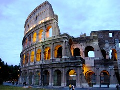 Coliseum Twilight, Rome, Italy (moonjazz) Tags: old italy rome building history architecture wow wonder concrete big twilight arch roman stadium famous icon tourist story coliseum monuments engineer levels slaves gladiators 5photosaday mywinners colourartaward goldstaraward flickrlovers