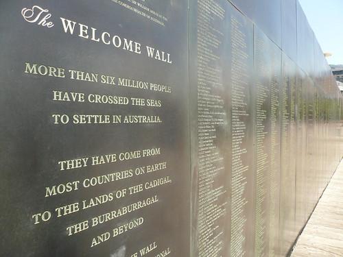 blog voyage australie sydney whv backpacker travel welcome wall darling harbour