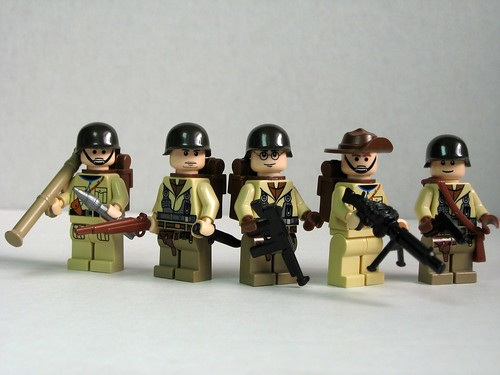 Allied World War 2 soldiers, originally uploaded by Dunechaser.