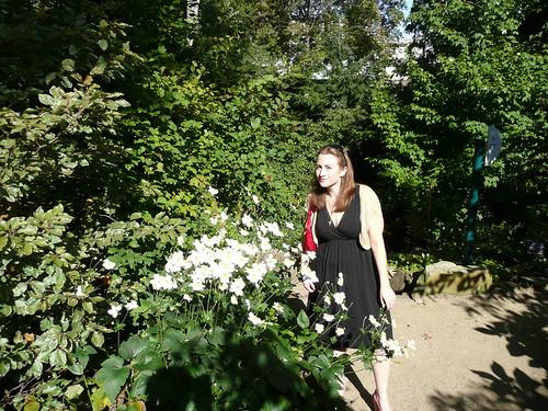 Jessica enjoying some flowers