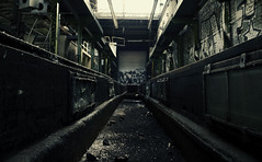 train-repair hall (Crazy Ivory) Tags: blue light shadow black color abandoned industry public colors field backlight photoshop canon dark vanishingpoint industrial darkness fav50 bokeh decay fav20 1855mm fav30 schatten crossover fav10 fav40 fav60 400d fav80 canoneos400d fav70 gettyimagesgermanyq1 gettygermanyq2 gettygermanyq3 gettygermanyq4