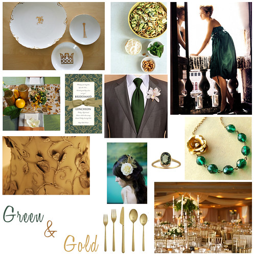 Wedding Wednesday: Green and Gold