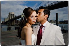 Love's Span (Ryan Brenizer) Tags: nyc newyorkcity wedding nikon flash dumbo august brooklynbridge gothamist 2008 d3 strobist 2470mmf28g nostrobistinfo yelenaandwassim