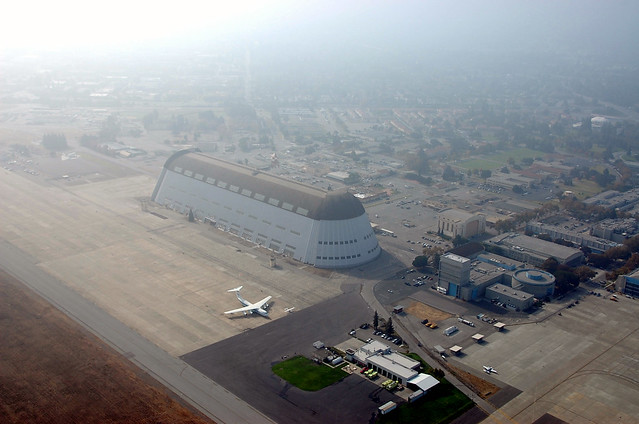 Hangar One from Zeppelin NT