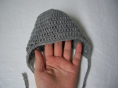 Gray baby hat