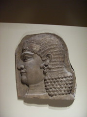 Head of a beardless royal attendant, possibly a eunuch (peterjr1961) Tags: nyc newyorkcity newyork art museum iraq met mesopotamia metropolitanmuseumofart assyrian neoassyrian