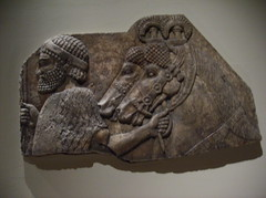 Foreign Groom in a tributary procession (peterjr1961) Tags: nyc newyorkcity newyork art museum iraq met metropolitanmuseumofart assyrian neoassyrian