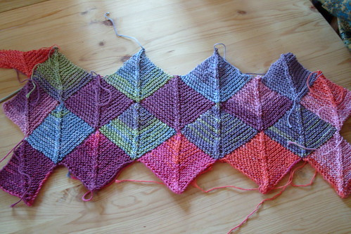 mitred squares baby blanket