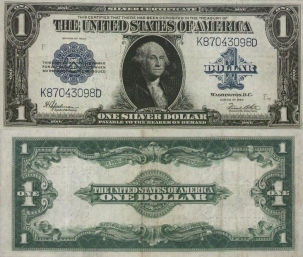 1923 $1 One Dollar Silver Certificate Large Size Note