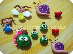 Ímãs (Alane • maria julia biscuit) Tags: cores handmade artesanato artesanal biscuit fofo cor porcelana porcelanafria feitoamao
