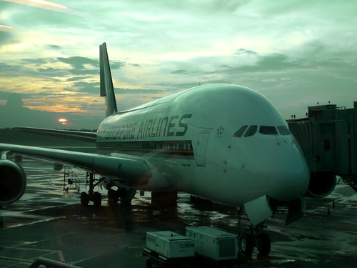 Singapore Airlines A380 at Changi