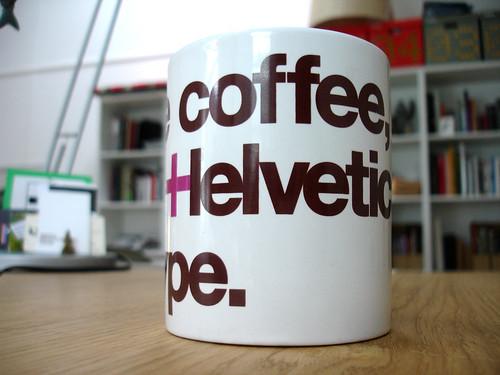 Helvetica Mug.