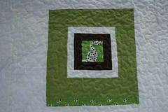 what a bunch of squares (crazymomquilts) Tags: white green quilt patchwork denyseschmidtinspired