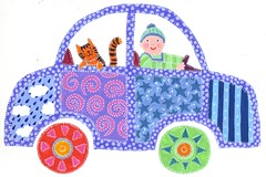 George drives (harryillustration) Tags: baby colour cute art cars car illustration cat painting children stars happy paint driving pattern tiger nursery paintings watercolour childrens patchwork storybook