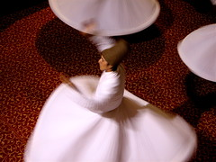 A dervish in motion. (Praziquantel) Tags: turkey dance sema bursa whirlingdervishes