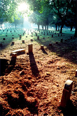 Murfreesboro (Peter Gutierrez) Tags: usa film cemetery grave america river soldier army us photo war tn stones tennessee south united union tomb tombstone graves confederate southern peter civil national american gravestone soldiers gutierrez states battlefield tombstones federal gravestones tombs confederacy rutherford murfreesboro colourartaward petergutierrez tennesseean