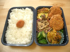 (skamegu) Tags: pumpkin mushrooms rice cucumber bento japanesefood tamagoyaki