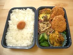 (skamegu) Tags: pumpkin mushrooms rice cucumber bento japanesefood tamagoyaki