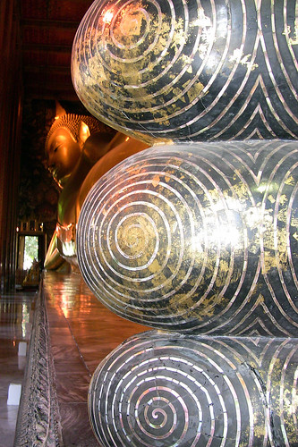 Reclining Buddha's peral feet