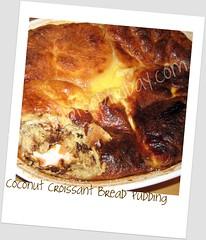 Coconut Croissant Bread Pudding