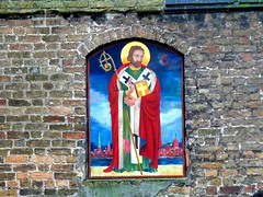 Picture on an churchwall (The sixt day) Tags: kirche haus architektur bild farbe rostock backstein colorsinourworld