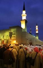 Hajj 2008 - Bab Assalam - Prophet's Mosque (ArabianLens.com) Tags: muslim islam hijab mosque mohammed saudi arabia medina ramadan mecca  allah muhammad makkah hajj prophets    madinah umra    ziyarah visitores       madinahmunawwarahrawlasharifgreendomeislamicsaudiarabiapilgrimdatesdesertreligiousziyarathprophetsmosquemasjidnabawiinmadinahmasjidmohammedtheprophetholycityramadanfastingeidulfithrpbuhmohammedpbuh allah