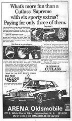1975 Cutlass Supreme (BACKYard Woods Explorer) Tags: 1975 southjersey oldsmobile hammonton cutlasssupreme newspaperscan vintagecarads