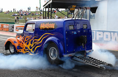 Ultimate Street Car (Santa Pod) - Hooligan Burnout (www.bazpics.com) Tags: show santa street camping england car race drag pod northampton ultimate grant racing event terry barry quarter burnout legend baz mile diff tvr drift dragster flamer oneil fireforce poddington bazpics barryoneil
