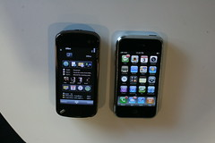 Nokia N97 next to iPhone