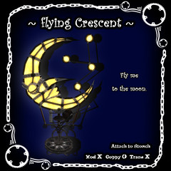 flying Crescent (onakagoo2001) Tags: moon fly machine goods crescent secondlife commodity 109prims