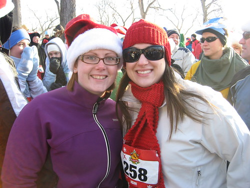 Me and Katie at the Reindeer Run