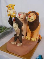 Lion King cake - finished front (ZeroGravityEnt) Tags: cake 3d lion disney lionking fondant