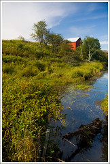 Canaan Valley, West Virginia ([Christine]) Tags: barn stream westvirginia canaanvalley supershot bealeland