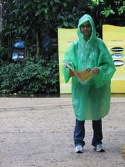 deciphering the map (Wildpixie) Tags: me zoo singapore rainy raincoat parka touristythings takenbypranab pranabinsingapore takenwithpranabscam