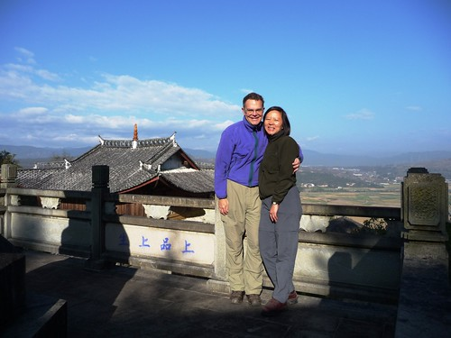 John and Sun-Ling at Zhongtian Temple - Heshun, Yunnan