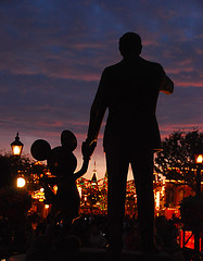 """Partners"" Walt and Mickey at Disneyland Christmas 2008 (Knoxley) Tags: california park christmas new winter sleeping white mountain lake snow david cold reflection castle beauty night dark square mouse lights amusement frozen los nikon orleans pretty december glow princess angeles disneyland space magic flake kingdom disney mickey haunted led southern cast icicle theme romantic mansion cinderella member anaheim fantasmic walt tomorrowland 2008 18200 fantasyland toontown adventureland frontierland diode d80 knoxley"