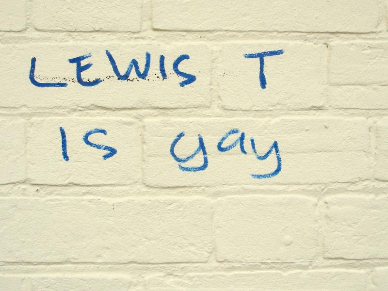 Lewis T is Gay