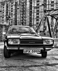 Ford Capri Stanley Dock Warehouse (Lazenby43) Tags: bw ford liverpool capri aplusphoto