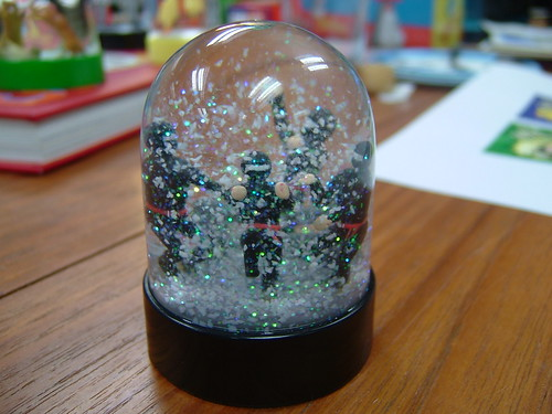 Ninja Snow Globe - Snowing