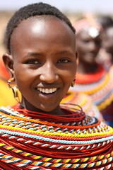 Samburu Tribe Beauty - Kenya (mikel.hendriks) Tags: portrait woman beauty smile geotagged kenya african traditional tribe samburu unspoilt canonef50mmf18ii canoneos50d samburuland flickraward