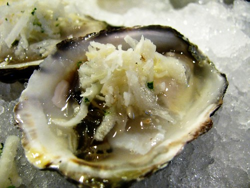 Oyster with fresh horseradish @ Catch