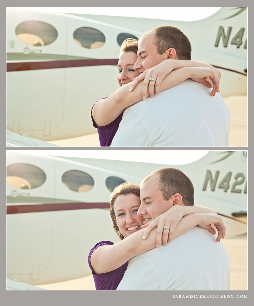 Kansas City downtown airport engagement session