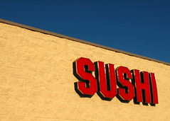 Sushi Sign in the Setting Sun on A Cloudless Day (Jason Michael) Tags: kingston imaging xavier services jasonmichael sushisigninthesettingsunonacloudlessafternoon jasonxmichael xavierimagingservices