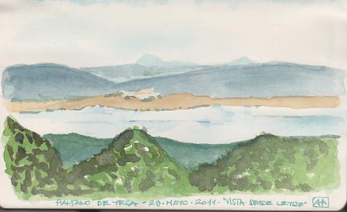 Pantano de Yesa, desde el Monasterio de Leyre