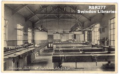 1920s: Swindon Technical Institute - workshop (Postcard) (Local Studies, Swindon Central Library) Tags: 1920s bw college postcard swindon wiltshire technicalinstitute regentcircus rsr277