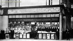 WH Smith's Book-Stall at Victoria Station, 1932 (archivesplus) Tags: manchester book books railwaystation bookshop bookstall manchesterlocalimagecollection gb127