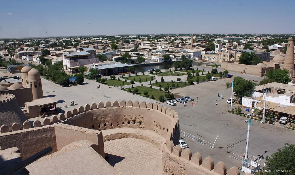 Panorama sur Ditchan Kala, ville extérieure - Khiva