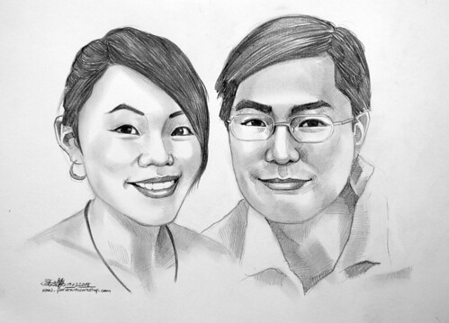 couple portraits pencil 190208