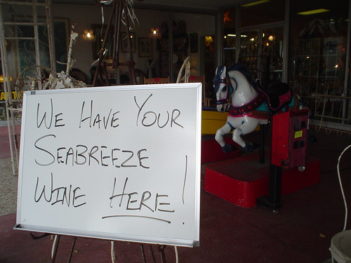 We have your Seabreeze Wine here... ride the horse drunk!