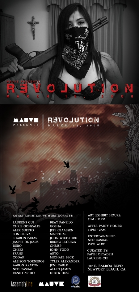 Revolution: art show in newport beach